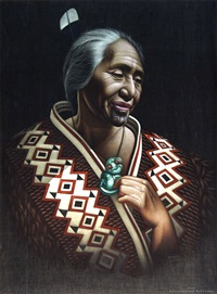 maori woman by charles mcphee