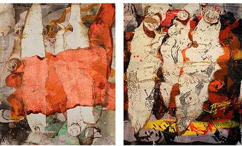 crosswire diptych by ed moses