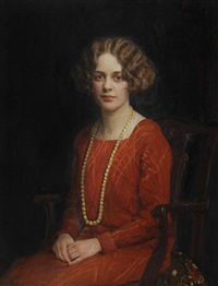 portrait of joyce mary jacobsen by maud hall (rutherford) neale