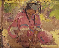 seated woman, algeria by adrien jean le mayeur de merprés