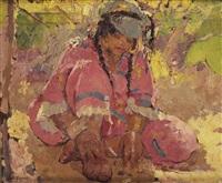 seated woman, algeria by adrien jean le mayeur de merprés
