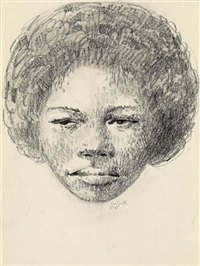 untitled (woman's head) by hughie lee-smith
