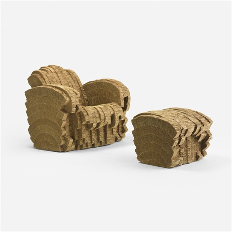 little beaver chair and ottoman set of 2 by frank gehry