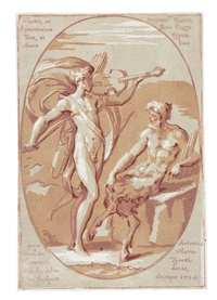 apollo und marsyas im gespräch (after parmigianino) by antonio maria zanetti
