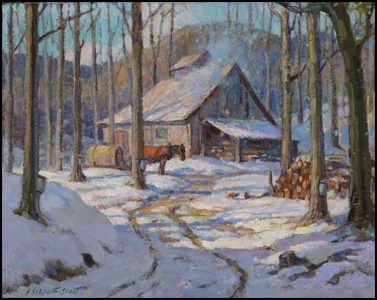 Winter Cabin By Adam Sherriff Scott