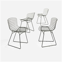 child's chairs (set of 4) by harry bertoia