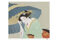 snow and dance (2 works) by shoen uemura