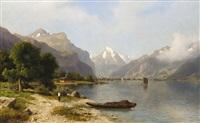 pohled na vierwaldstättersee by michael haubtmann