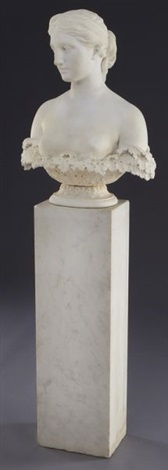 marble bust of proserpine by hiram powers