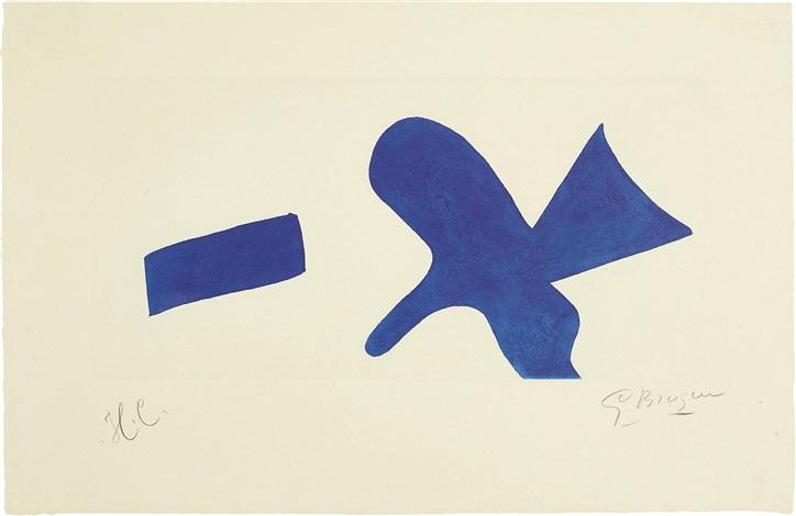 Loiseau Bleu Invitation Exposition Louis Broder Pour Le