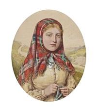 the tartan shawl by walter langley
