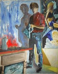 artiste dans son atelier by bato