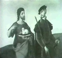 saints sebastian and john the baptist by juan correa de vivar