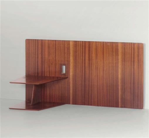 Testiera a muro per letto con due mensole by Gio Ponti on artnet