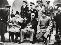 churchill, roosevelt und stalin in yalta by samarly gurarly