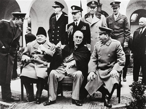 churchill roosevelt und stalin in yalta by samarly gurarly