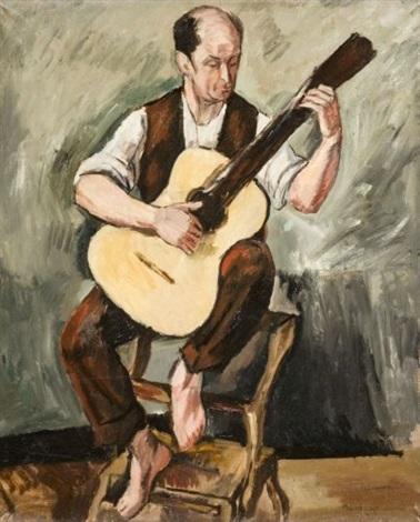 le guitariste by simon françois stanislas mondzain