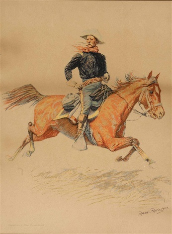the calvary officer by frederic remington