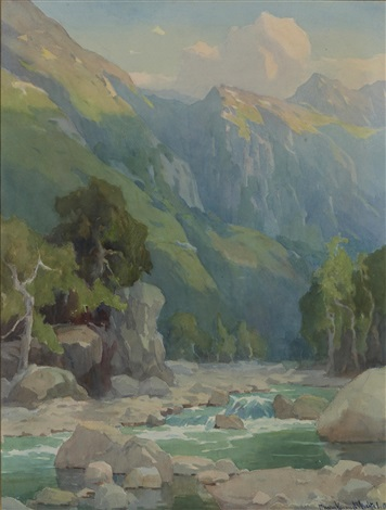 matilija canyon at sunset by marion kavanaugh wachtel