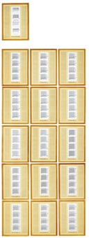 60 works re: 1 work, 29th variant (in 16 parts) by hanne darboven