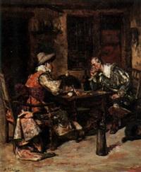 cavaliers drinking by maximo juderias caballero