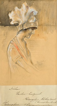 portrait of kerstin lindqvist by albert edelfelt