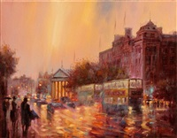 evening rush westmoreland street by gerry glynn