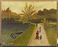 vue du bois de boulogne en automne by henri rousseau