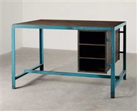 architects desk by a. r. prabhawalkar and pierre jeanneret
