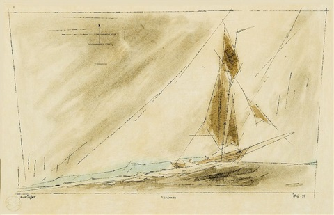 fisherman by lyonel feininger