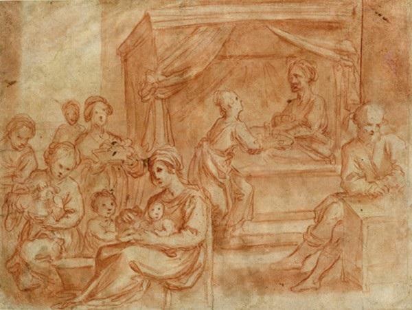 la nascita di san giovanni battista nudo maschile studio verso by astolfo petrazzi