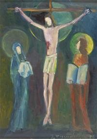 kreuzigung christi by josef fischnaller