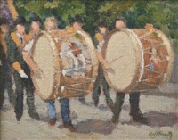 the drummers were a drumming by norman smyth