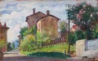 paesaggio con case by licinio barzanti