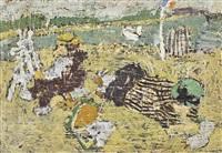 le peintre à la plage by jean pougny