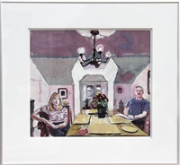 couple at dining room table by mel leipzig
