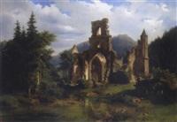 klosterruine im schwarzwald by adolf rudolf holzhalb