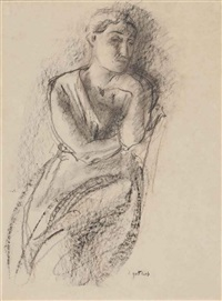 untitled (study of a woman) by léopold gottlieb