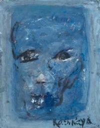 visage bleu by ida karskaya
