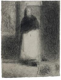 la concierge (la maquerelle - la bonne) by georges seurat