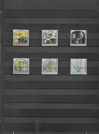 fauna and flora - wildflowers - a series of six stamps by donald evans