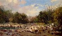 scene at apies river pretoria by adriaan hendrik boshoff