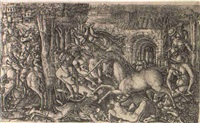 a king pursued by a unicorn, pl.2 by jean duvet
