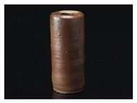 a bizen haikatsugi(ash-covered) vase by rosanjin kitaoji