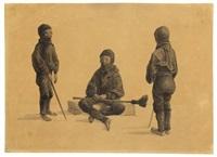 schornsteinfegerjunge (drei studien) by karl blechen
