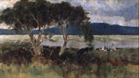 picnic by the lake by albert turner reid
