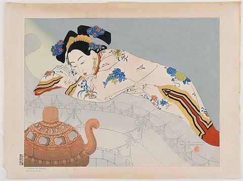 sandalwood smoking frm manchuria grand deluce set by paul jacoulet