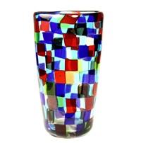 patchwork vase by ferro murano