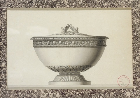 design for a tureen crowned with two griffons by jean guillaume moitte
