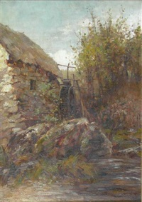 the old watermill (+ another; 2 works) by james herbert snell